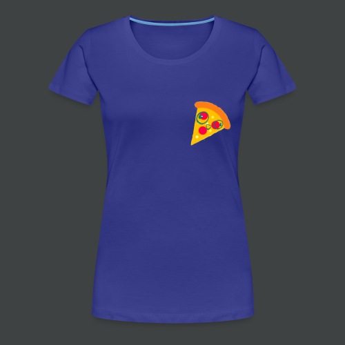 Cartoony Pizza Logo - Women's Premium T-Shirt
