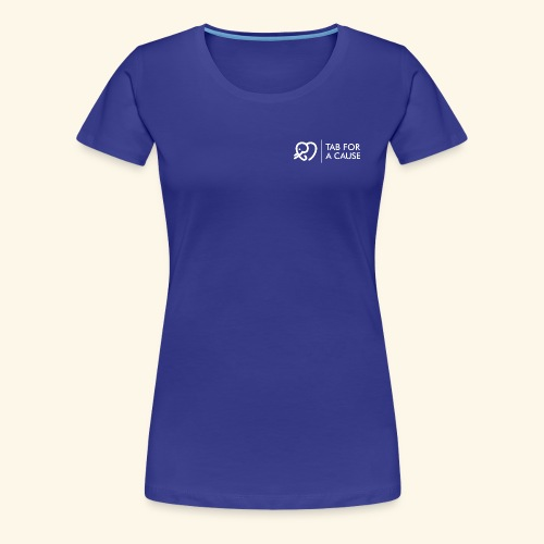 TFC Logo and Text all White - Women's Premium T-Shirt