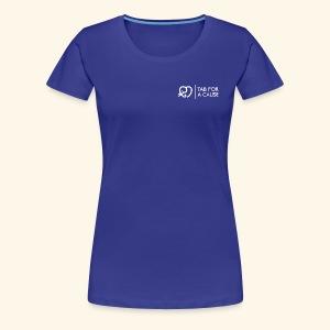 TFC Logo and Text all White - Women's Premium T-Shirt