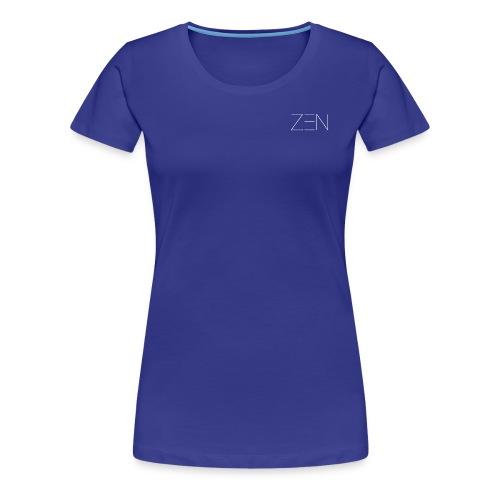 Zen Activewear White - Women's Premium T-Shirt
