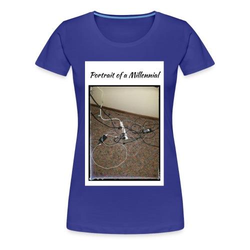 Portrait of a Millennial - Women's Premium T-Shirt