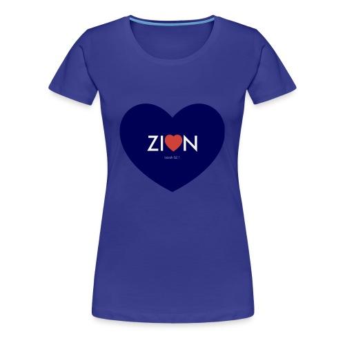Zion in my heart/ I Won't Keep Silent - Women's Premium T-Shirt