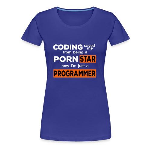 Pornstar To Coding - Women's Premium T-Shirt