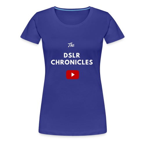The DSLR Chronicles Tee (white letters) - Women's Premium T-Shirt