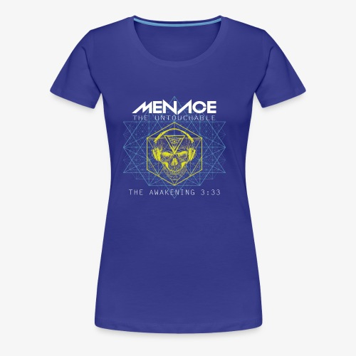 Menace white letters - Women's Premium T-Shirt