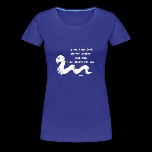 Snek Poem - Women's Premium T-Shirt