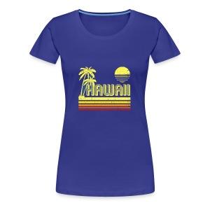 T Shirt Vintage Hawaii distressed look - Women's Premium T-Shirt