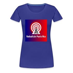 LOGO de radioaficionpr logoazulyrojo2 - Women's Premium T-Shirt