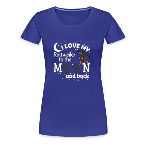 I Love My Rottweiler - Women's Premium T-Shirt