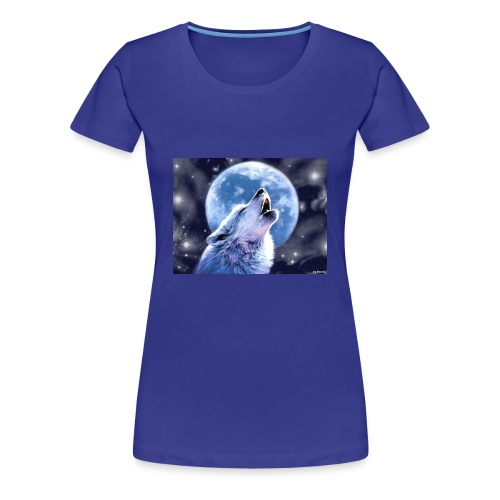 howling wolf wallpapers wide For Desktop Wallpaper - Women's Premium T-Shirt
