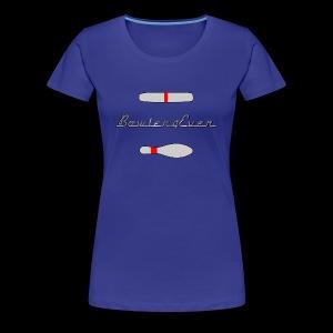 Bowler4Ever Pins Logo - Women's Premium T-Shirt