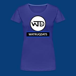 WaTruqDats Logo - Women's Premium T-Shirt