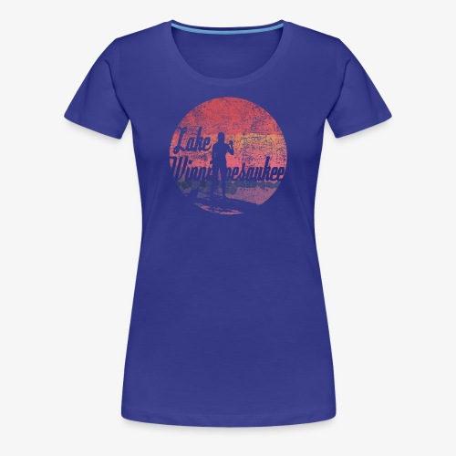 Lake Winnipesaukee Paddle Board Tee Shirt - Women's Premium T-Shirt