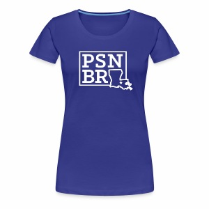 PSN BR Blue on White - Women's Premium T-Shirt