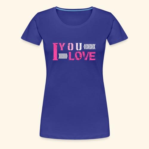 iloveyou - Women's Premium T-Shirt