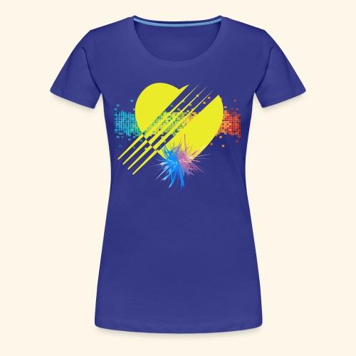 BOOM - YELLOW - Women's Premium T-Shirt