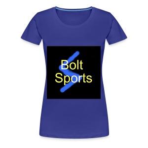 Bolt Sports Black ! Collection - Women's Premium T-Shirt