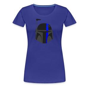 Thin Blue Line - Boba Fett - Women's Premium T-Shirt