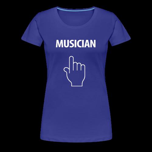 MUSICIAN-white Design - Women's Premium T-Shirt