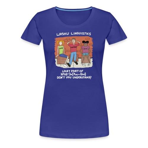 Semantics White - Women's Premium T-Shirt