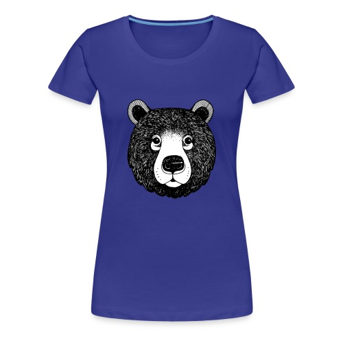 The head of bear - Women's Premium T-Shirt