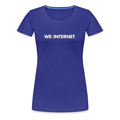 Classic WTI logo in white - Women's Premium T-Shirt
