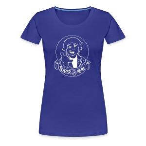 Blazer Was Here Logo WHITE - Women's Premium T-Shirt