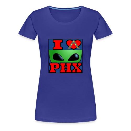 I Love Phoenix, Alien - Women's Premium T-Shirt