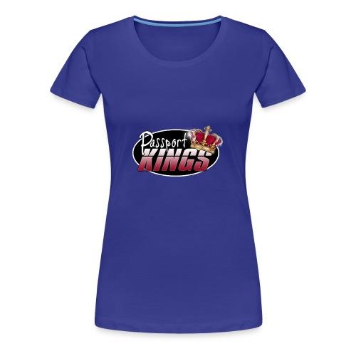 Passport Kings logo for dark shirts - Women's Premium T-Shirt