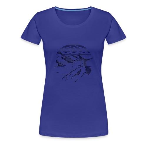 Line landscape - Sea - Women's Premium T-Shirt