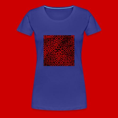 Detailed Chaos Communism Button - Women's Premium T-Shirt