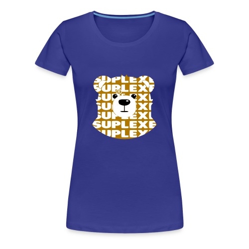SUPLEXExBEAR GOLD TEE - Women's Premium T-Shirt