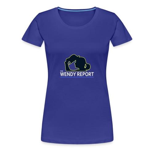 The Wendy Report Logo - White - Women's Premium T-Shirt