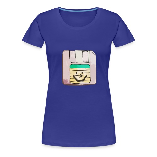 smiley floppy disk - Women's Premium T-Shirt