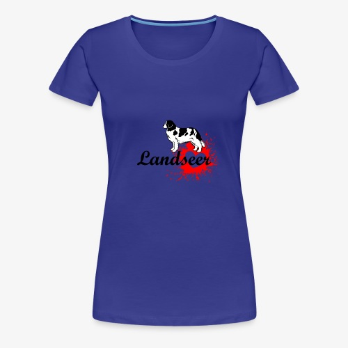 Landseer, Newfie, Newfoundland love - Women's Premium T-Shirt
