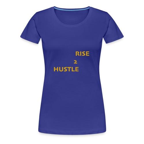 Hustle2Rise Gold up - Women's Premium T-Shirt