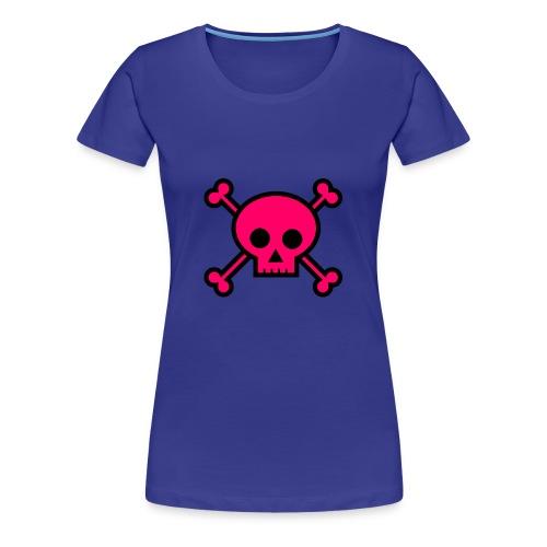 pink skull - Women's Premium T-Shirt