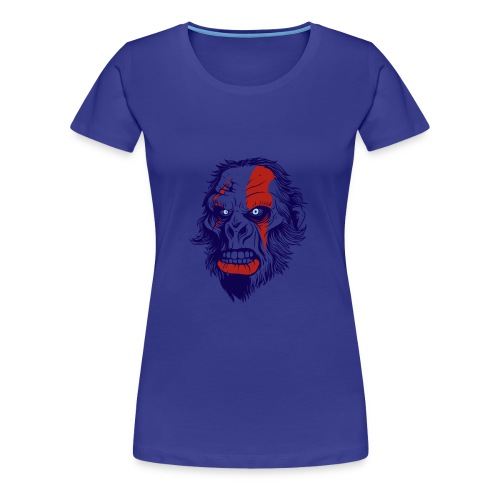 t shirt design 26 gorilla kratos by marekpl d - Women's Premium T-Shirt