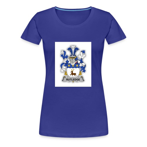 Rutledge family Crest - Women's Premium T-Shirt