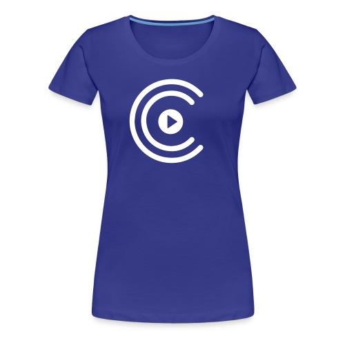 CreatiCrew Logo (White) - Women's Premium T-Shirt