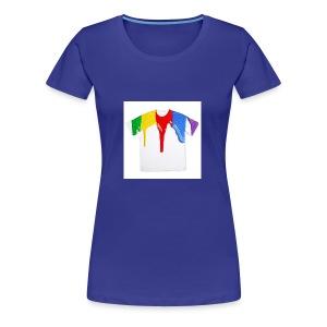 tshirt printing for kids paint design 100683 - Women's Premium T-Shirt
