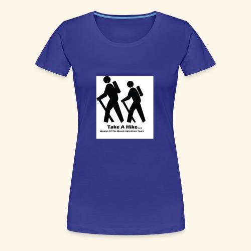 Womyn of the Woods Hiker couple - Women's Premium T-Shirt