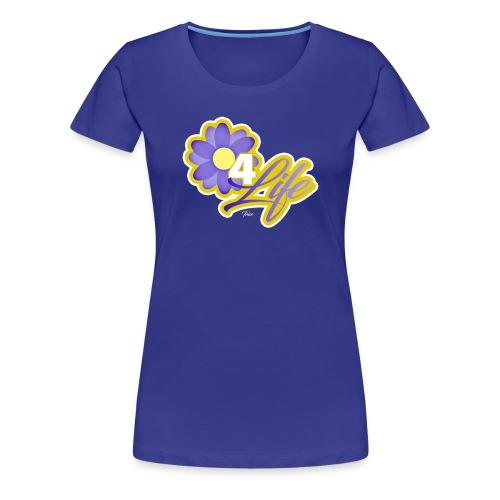 purp flowersss - Women's Premium T-Shirt