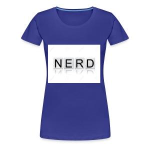 66188244 The word Nerd written in tile letters iso - Women's Premium T-Shirt