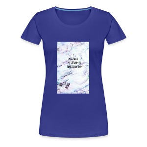 Quote- i was born yesterday in tomorrow land - Women's Premium T-Shirt