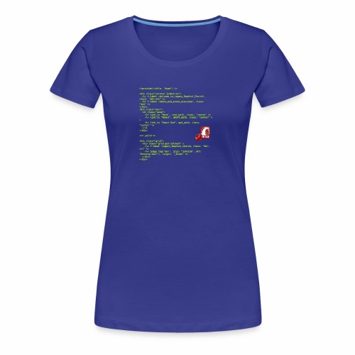 RoR Code 1 - Women's Premium T-Shirt