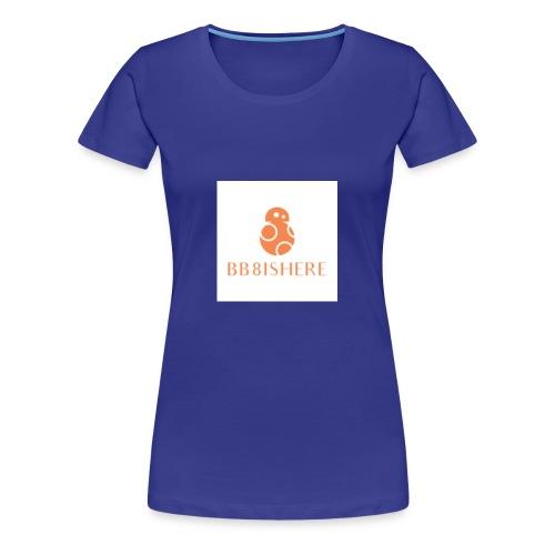 bb8ishere logo - Women's Premium T-Shirt