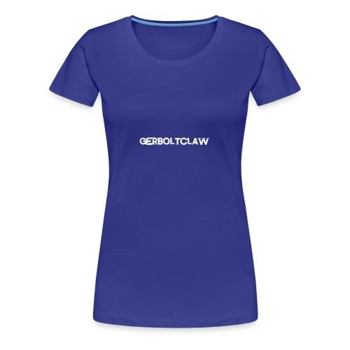 White Gerboltclaw LOGO - Women's Premium T-Shirt