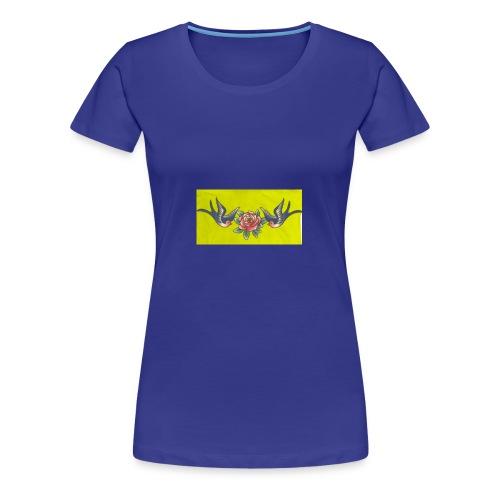 Roses birds - Women's Premium T-Shirt