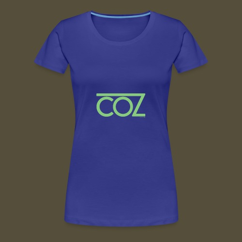 coz_logo_lightgreen - Women's Premium T-Shirt